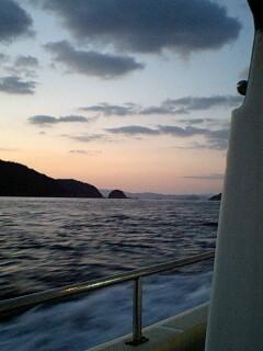 出航の朝の黎明